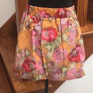 J. Crew Muted Watercolor Elastic Waist Mini Skirt